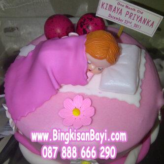 Kue Tart Baby Pink