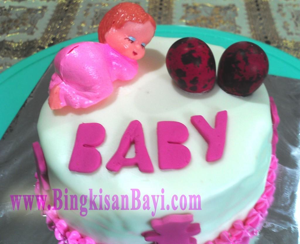 Cake Baby Pink White