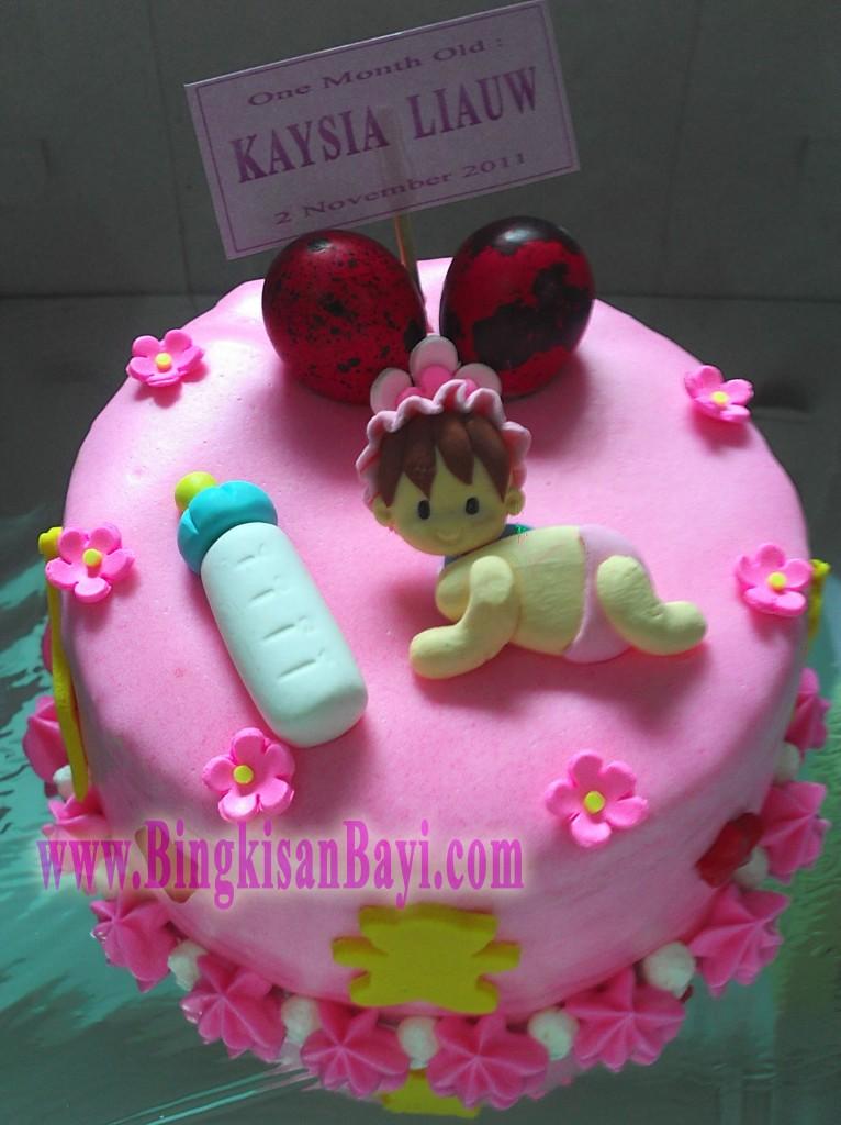 Bingkisan Bayi tart Pink